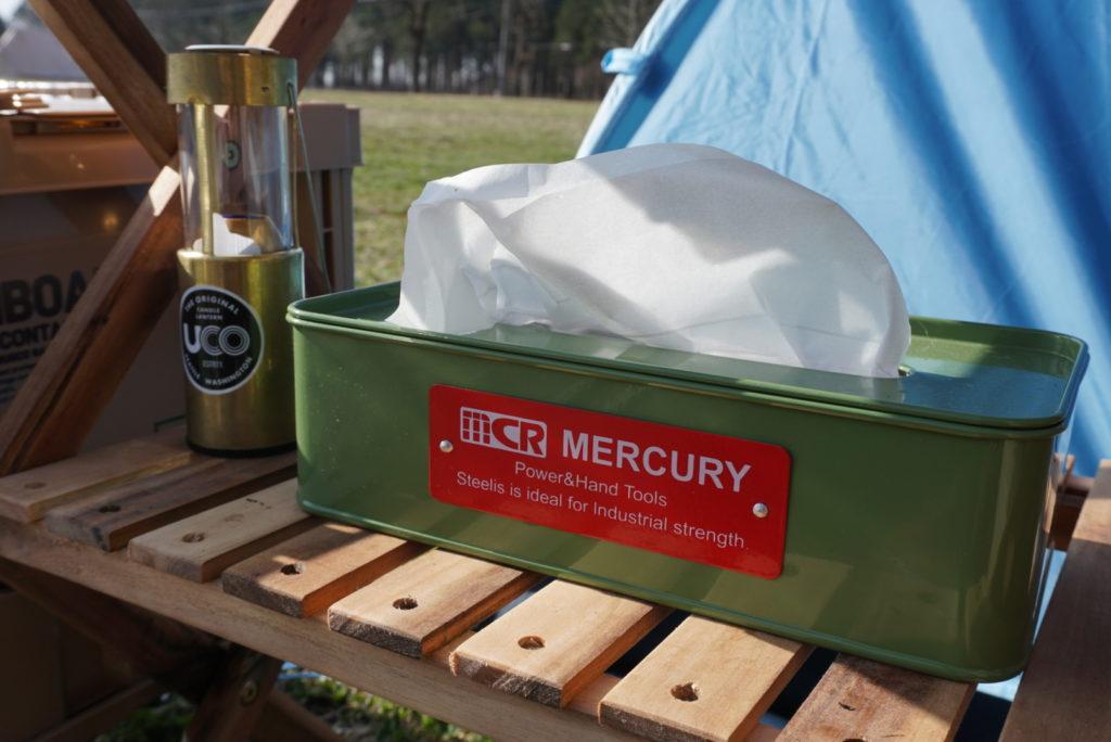 MERCURY ブリキティッシュボックス