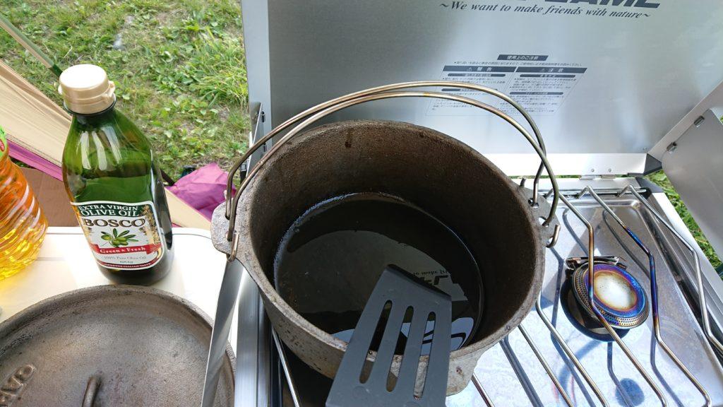 ダッチオーブン 無水カレー