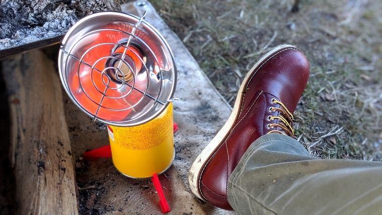キャンプ ブーツ 革
